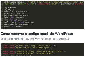 Como remover o Emoji do WordPress sem plugin