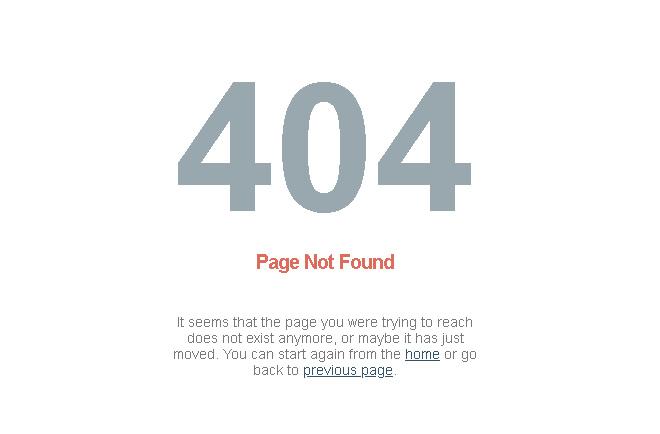 página de erro 404