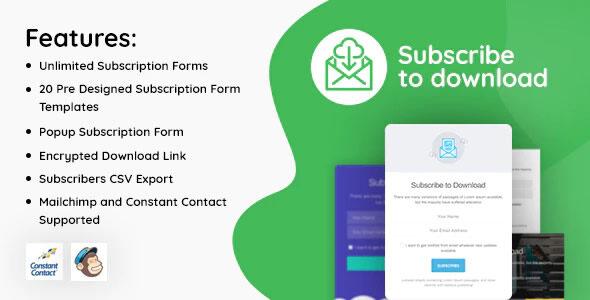 Subscribe to Download v1.2.5 – Um plugin de assinatura avançado para WordPress
